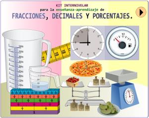 Kit Internivelar para la enseñanza aprendizaje de fracciones decimales y porcentajes
